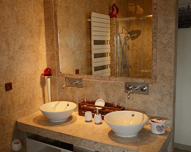 salle de bain chambre d'hôtes bienvenue chez sylvie lyon